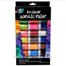 Peinture acrylique non-toxique 24 couleurs (20ml) pour le dessin des enfants
