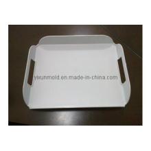 Molde de plástico para bandeja de serviço de café elegante branco