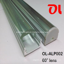 LED-Aluminiumprofil mit 60-Grad-Abstrahlwinkel (ALP002)