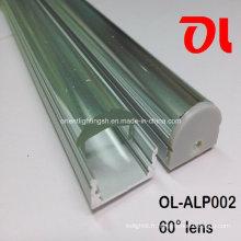 Profilé en aluminium à LED avec angle de faisceau de 60 degrés (ALP002)