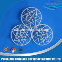 Plastic washing tower packing plastic snowflake ring