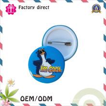 Boa Qualidade Presentes de Promoção Personalizado Rodada Segurança Metal Empresa Clipe de Logotipo Emblema Do Pin de Segurança