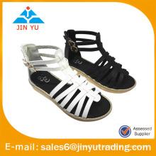 Sandalias de gladiador de sandalia de tobillo PU