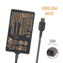 20V 2.25A 45W Charger for Lenovo Thinkpad Helix Model
