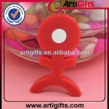Custom design cheap plastic zipper puller