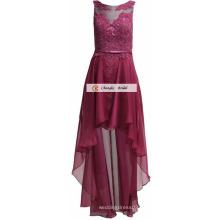 2017 nuevos vestidos de partido sin mangas del vestido de la dama de honor de la gasa del diseño de la manera