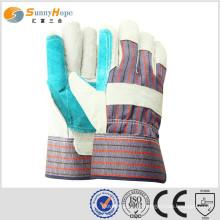 Sunnyhope Leder Arbeitshandschuhe Leder Schweißen Handschuh billig Leder Handschuhe