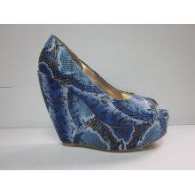 2016 Fashion High Heel Chuncky Ladies Dress Shoes (HCY03-058)