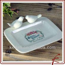Кастрюля для мыла из керамики с птицами
