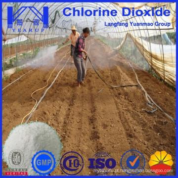 Pó de dióxido de cloro eficiente para a esterilização do solo para a agricultura