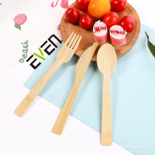 Biodegradable spoon fork knife bamboo travel utensils cutlery disposable bamboo kitchenware cutlery set