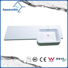 Good Quality White Artificial Marble Sink Tops Acb1212A