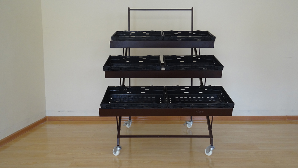 steel vegetable shelves