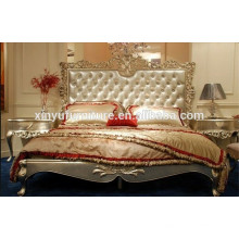 Gold foil finished french style bedroom furniture BD8016