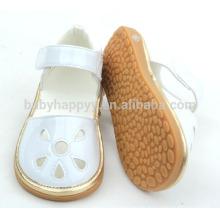 Zapatos de las muchachas de los zapatos de bebé del caucho de cuero de la PU de los niños