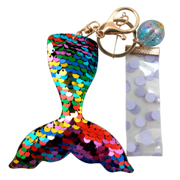 MERMAID TAIL SEQUIN KEY CHAIN-0