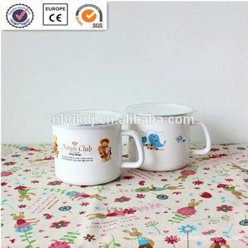 wholesale prices Enamelware Mug with pe lid