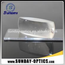 Lentille de cylindre de grande taille en verre optique de Fresnel pour des instruments