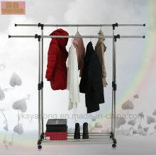 Balcon de support en métal de vêtement de vêtements séchant le support de vêtements en métal de support