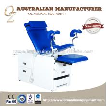 El estándar médico estándar aprobó la silla obstétrica del ginecología del acero inoxidable de la tabla del hospital para la venta