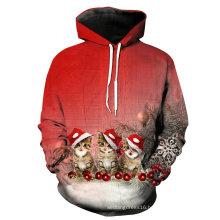 Custom Digital Full Printed Hoodies Fleece Chirstmas Sport Sweatshirt (KT66001)