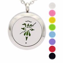 Fashion aromatherapy diffuser locket necklace pendant jewelry