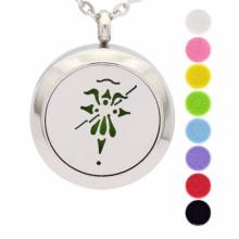 Moda aromaterapia difusor medalhão colar de pingente de jóias