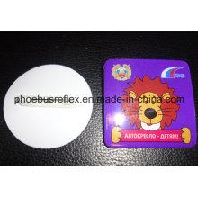 Reflector de diámetro de 5,8 cm con pin de seguridad / insignia reflectante