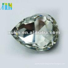 sterling silver back foiled tear drop diamond SWW040