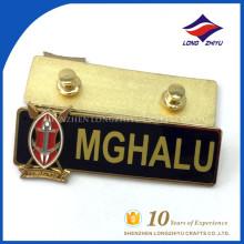 Fábrica de crachá de nome de metal com excelente qualidade preço de venda direta