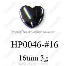 Hematita 16mm coração pingentes