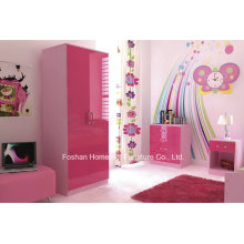 Ottawa Pink High Gloss 3 Piece Kids Bedroom Furniture Set (HF-HH27PK)