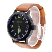 Новая мода кожа кварцевые часы