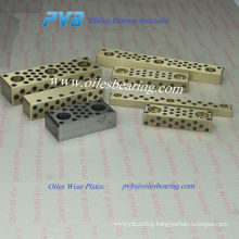 E3118 one sided self lubricating guide rail, C86300 guiding elements, STW oil free slide plates
