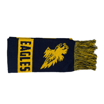 Customized Logo knitted acrylic scarf with tassels
