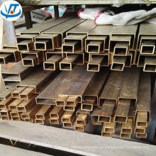 Tubulação de bronze quadrada de C2720 C2800 H62 H63 H65 / retangular / tubo de bronze quadrado 40 x 40mm