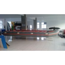 1.2mm PVC-Aluminiumboden aufblasbares Boot für Rettung
