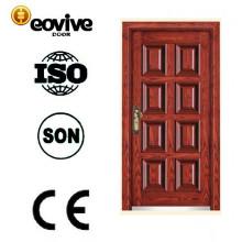 nuevo producto de la última imagen de acero puerta de madera de estilo