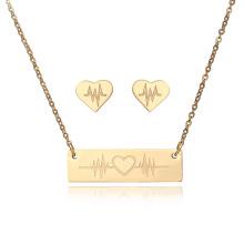 Hersteller Gold Zubehör Ohrringe Edelstahl Schmuck Sets für Frauen