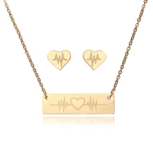 Manufacturer Gold Accessories Earrings Stainless Steel Jewelry Sets For Women