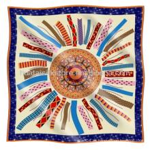 Bufanda de seda clásica Mejor estilo de venta de mano de seda bufanda de rollo
