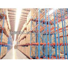 Equipo logístico pesado almacenamiento doble profunda paletización
