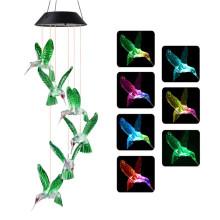 Carillon solaire imperméable à l'eau de jardin de colibri de LED