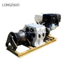 Máquina de tracción de cable de cabrestante con motor de gasolina