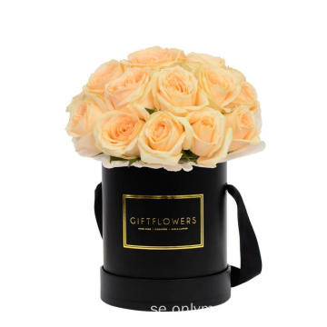 Luxury Matte Black Flower Box med handtag