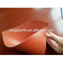 1.5mm red color both side silicone rubber coated fiberglass cloth