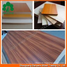 Melamin MDF-Platte für Möbel mit angemessenem Preis