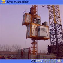 Elevador de construcción para levantar material de construcción