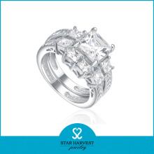 Imitation Sterling Silver Diamond Ring (SH-R0179)