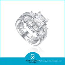 Imitação de prata esterlina anel de diamante (sh-r0179)